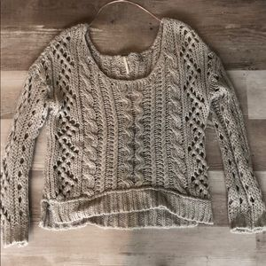 Crop free people sweater